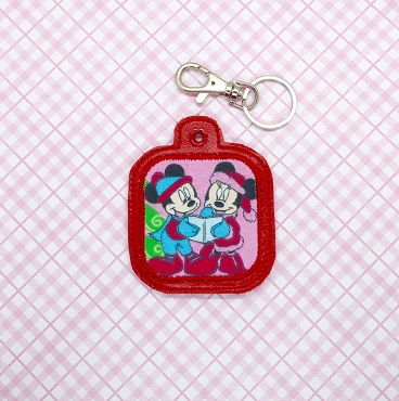 Applique Square Snaptab / Keyfob Embroidery Design